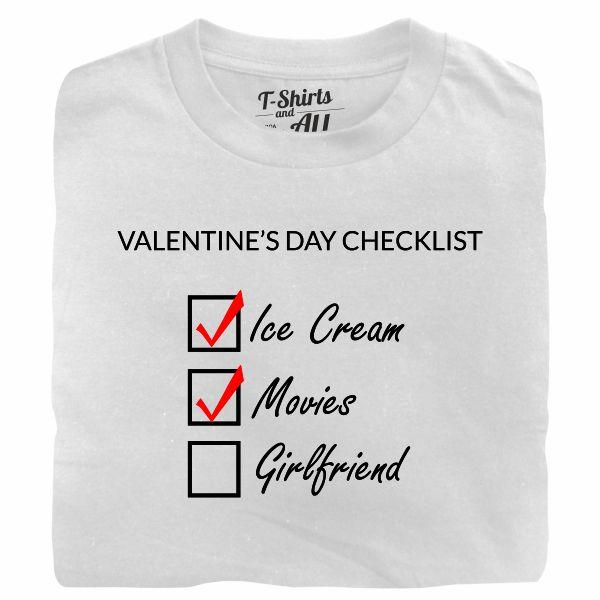 valentine's day checklist man white t-shirt