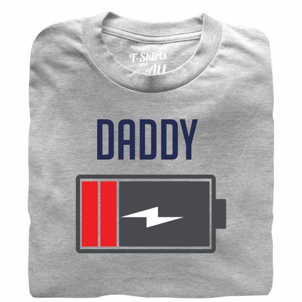 Bateria daddy heather grey tshirt