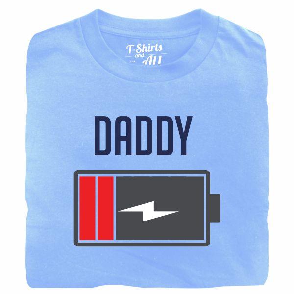 Bateria daddy sky blue tshirt