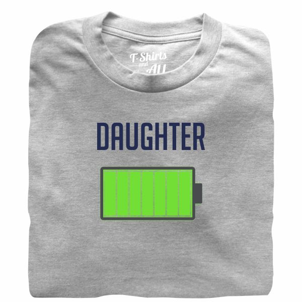 Bateria daughter heather grey tshirt