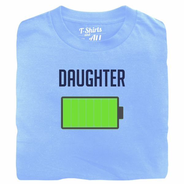 Bateria daughter sky blue tshirt