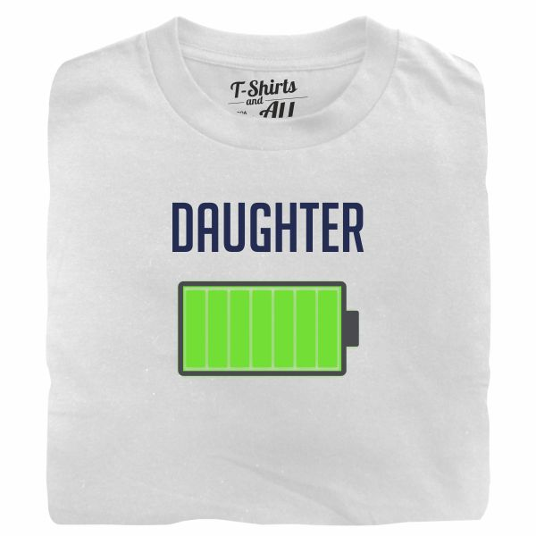 Bateria daughter white tshirt