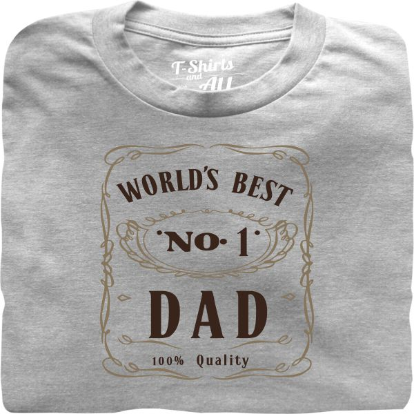 world's best n1 dad heather grey tshirt