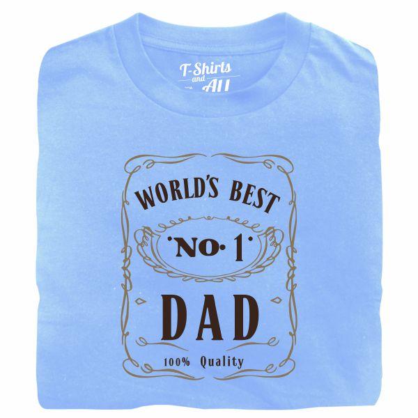 world's best n1 dad sky blue tshirt
