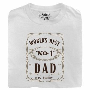 world's best n1 dad white tshirt