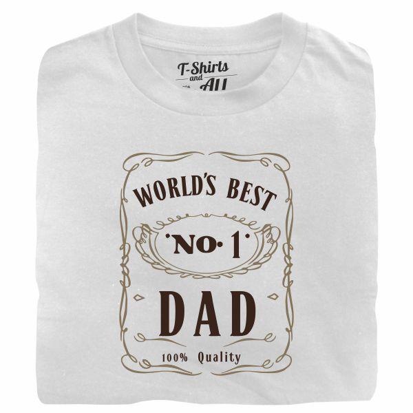 world's best n1 dad white tshirt