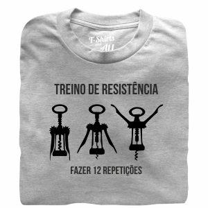 Treino de resistencia t-shirt cinza