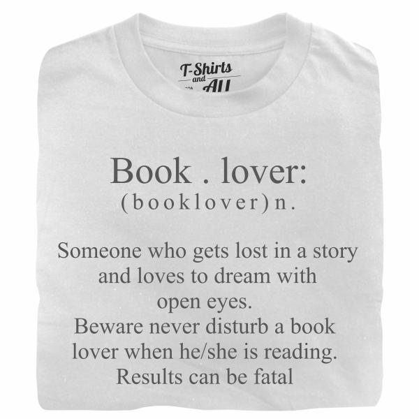 book lover white t-shirt