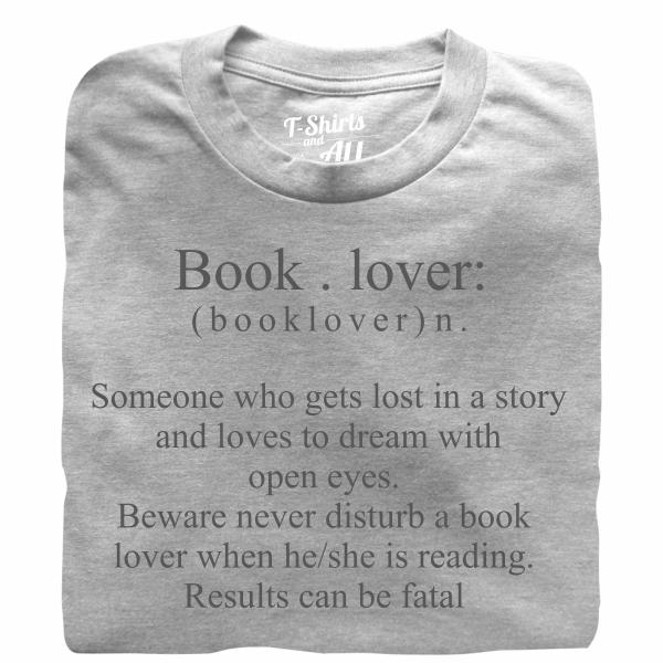 booklover grey tshirt