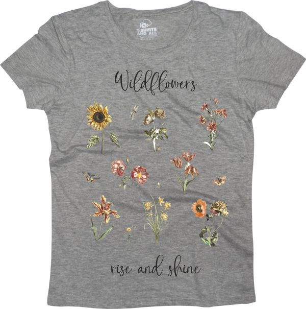 wildflowers grey t-shirt