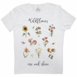 wildflowers white t-shirt