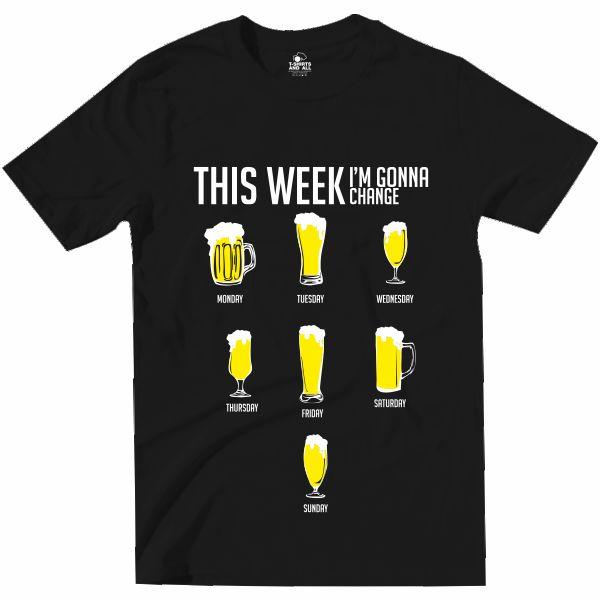 this week i'm gonna change black tshirt