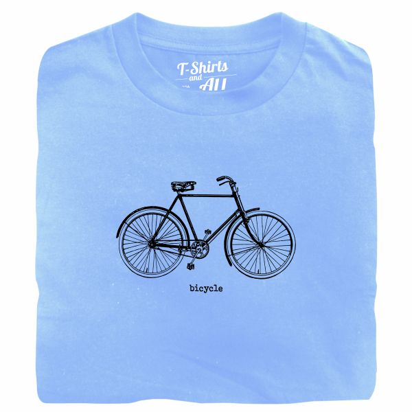 bicycle sky blue tshirt