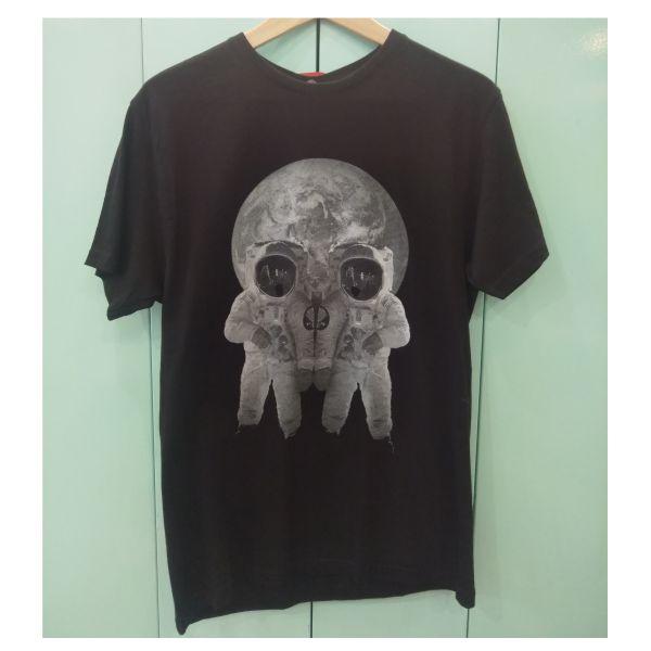 caveira lunar black tshirt