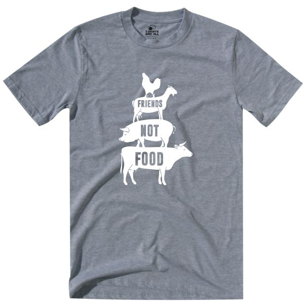 friends not food tshirt heather grey homem