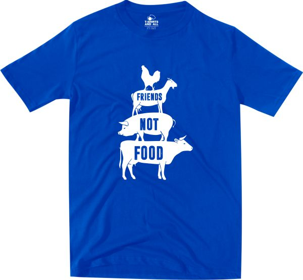 friends not food tshirt royal homem