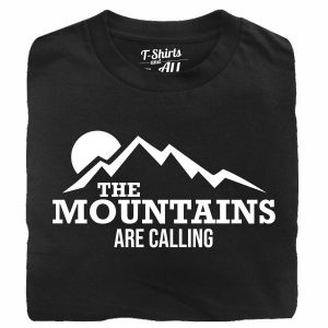 the mountains are calling black tshirt