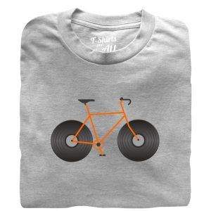 bicicleta vinil heather grey tshirt