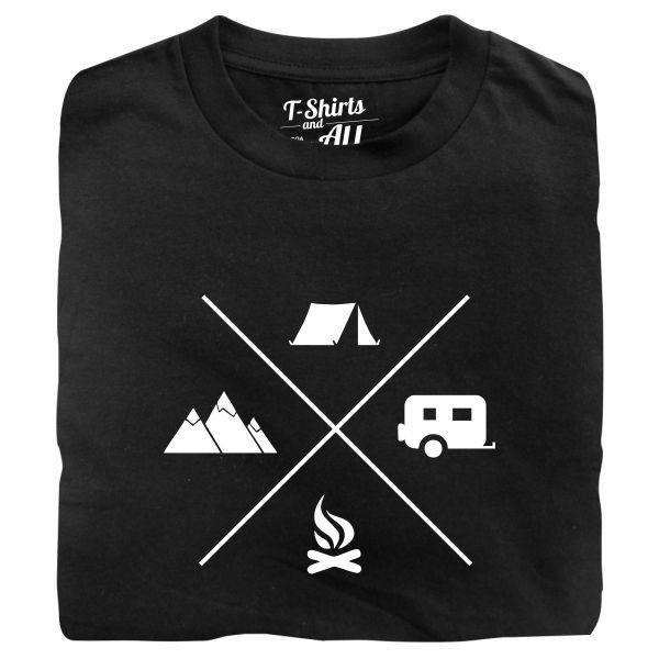 camping black tshirt