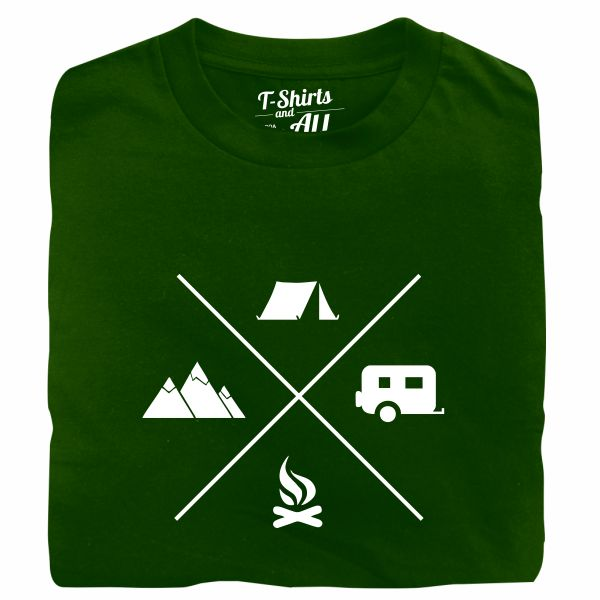 camping forest green tshirt