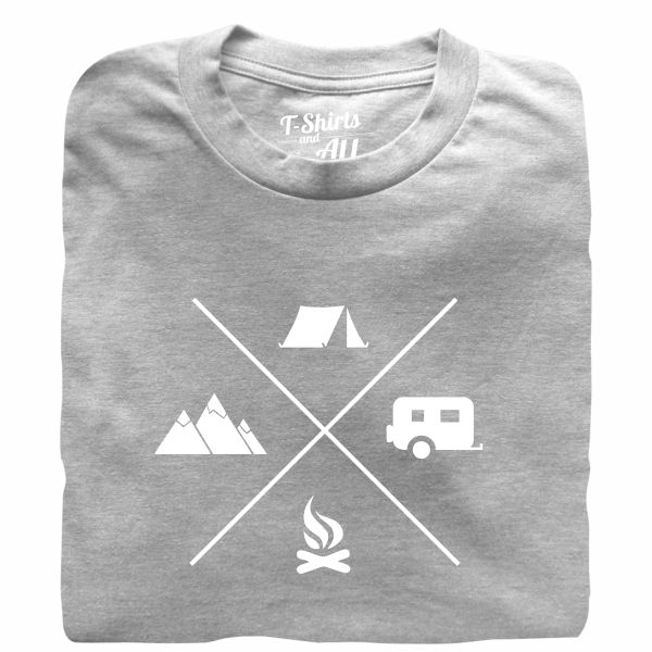 camping heather grey tshirt