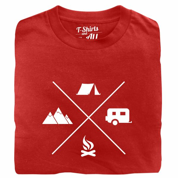 camping red tshirt