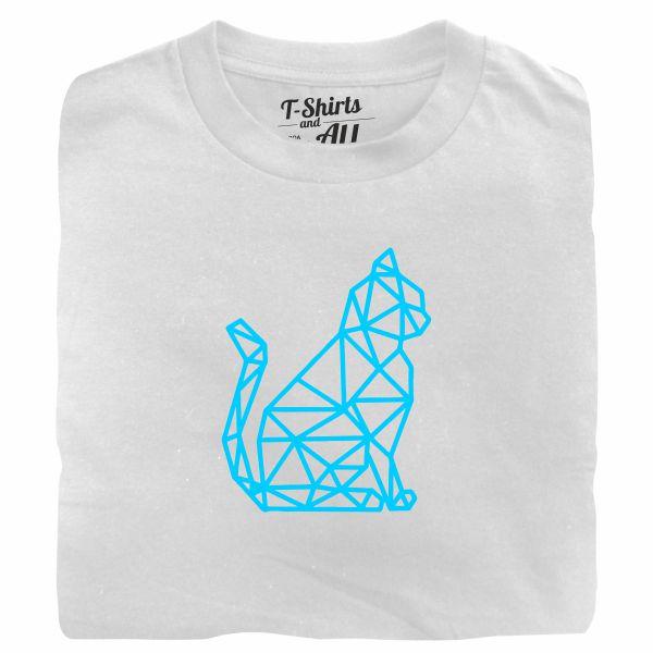 cat geometric tshirt branca