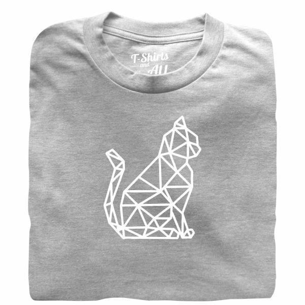 cat geometric tshirt heather grey