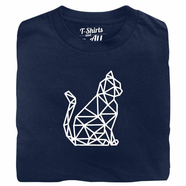 cat geometric tshirt marinho