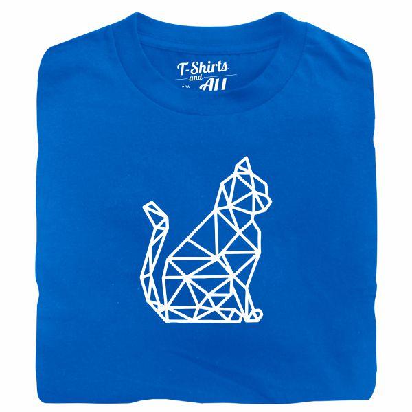 cat geometric tshirt royal
