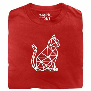 cat geometric tshirt vermelha