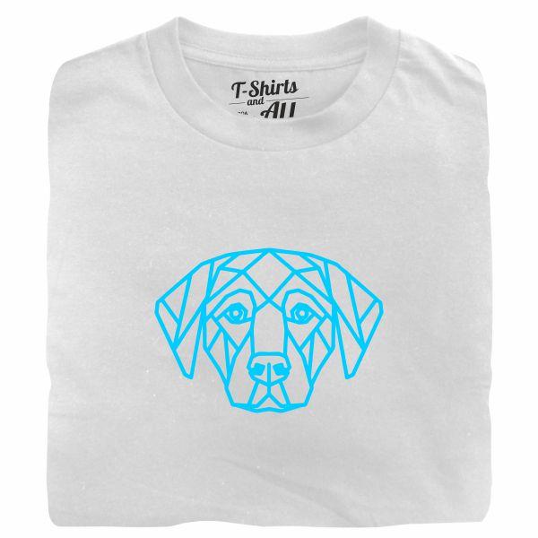 geometric dog tshirt branca