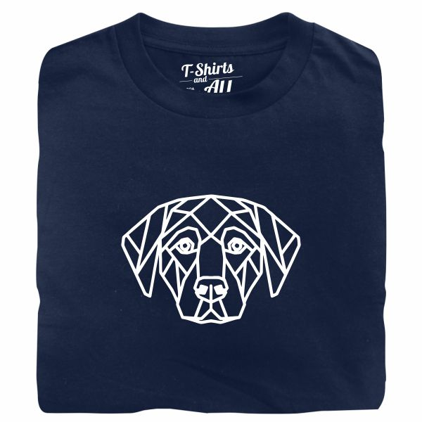 geometric dog tshirt marinho