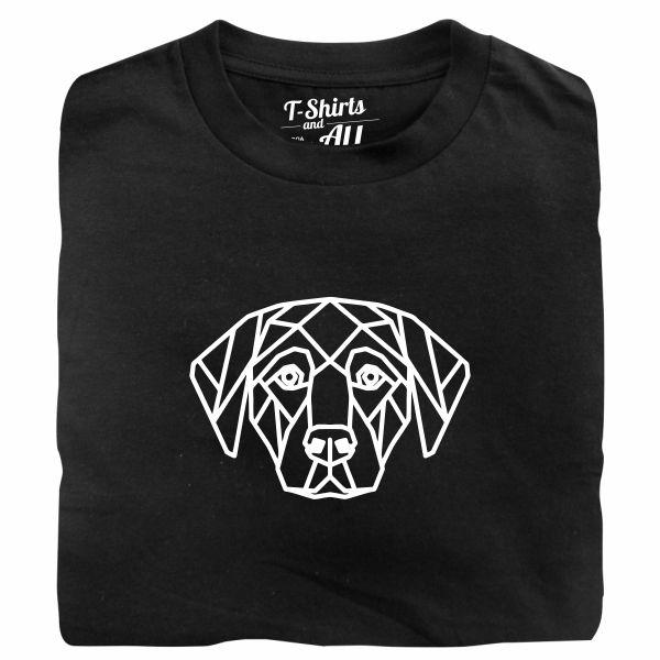 geometric dog tshirt preta