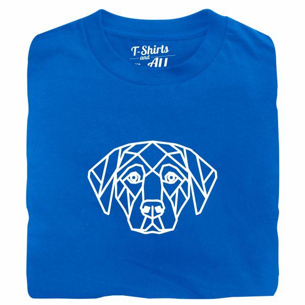 geometric dog tshirt royal