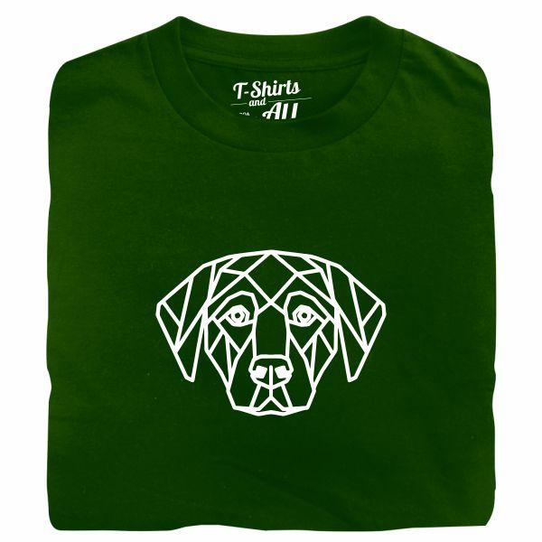dog geometric tshirt verde