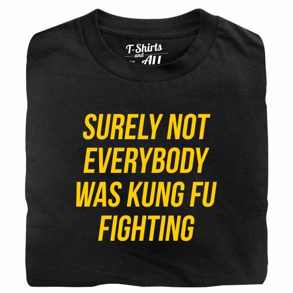 kung fu fighting tshirt preta