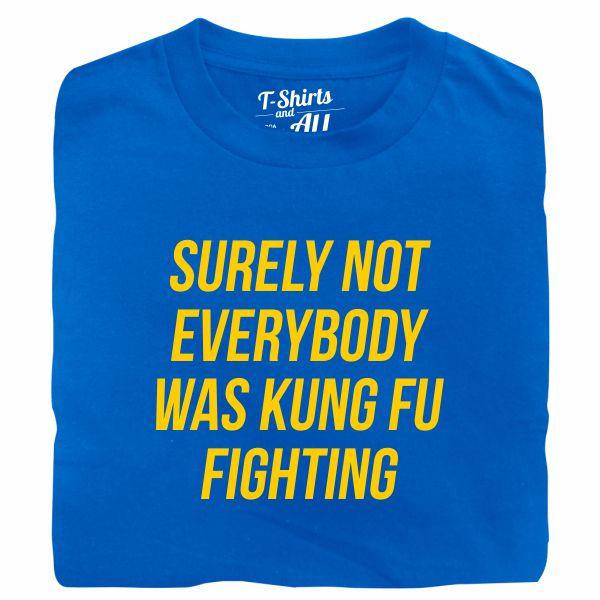 kung fu fighting tshirt royal