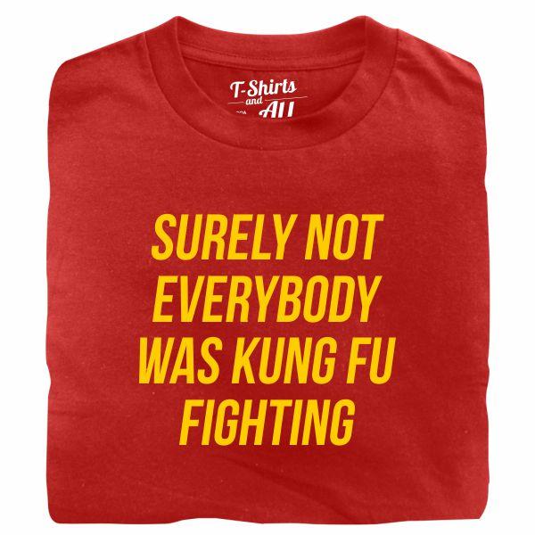 kung fu fighting tshirt vermelha
