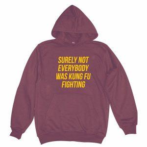 kung fu hoodie burgundy