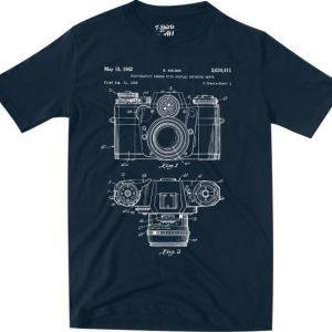 patente máquina fotográfica navy tshirt
