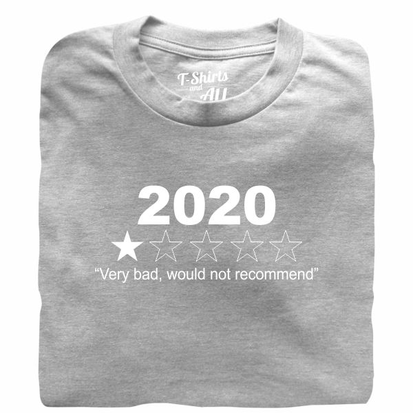 2020 grey t-shirt