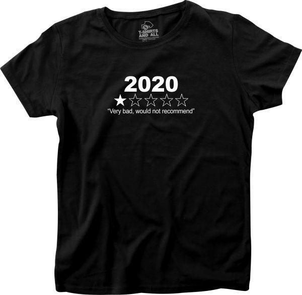 2020 woman black t-shirt