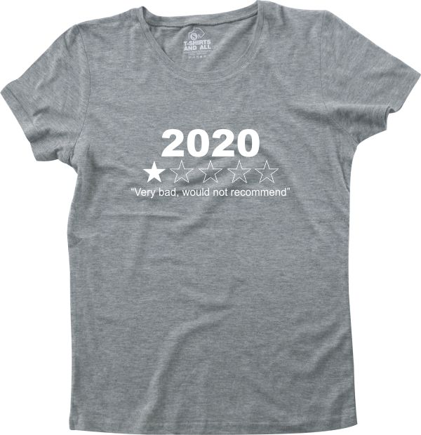 2020 woman grey t-shirt