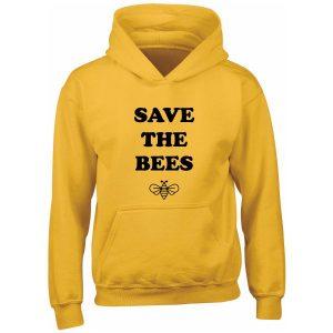 SAVE THE BEES MUSTARD KIDS HOODIE