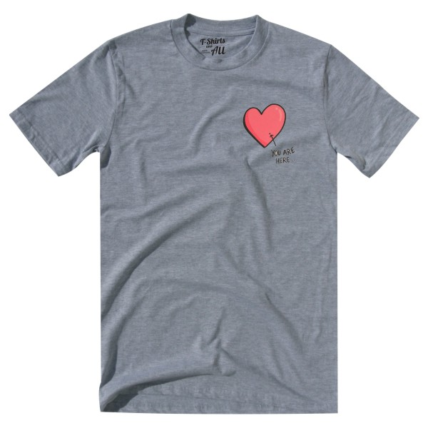youarehere grey tshirt