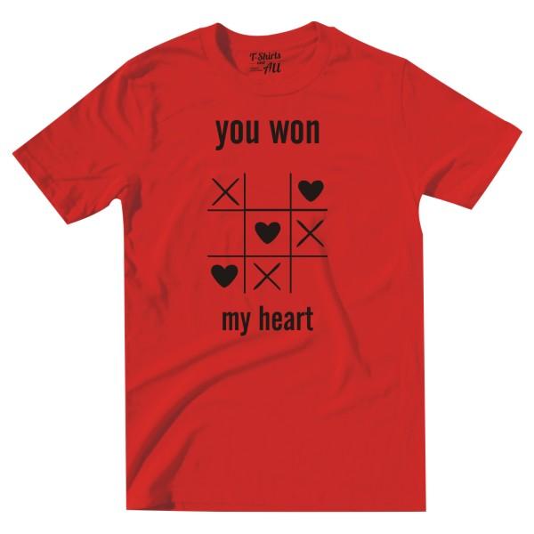 youwonmyheart red tshirt