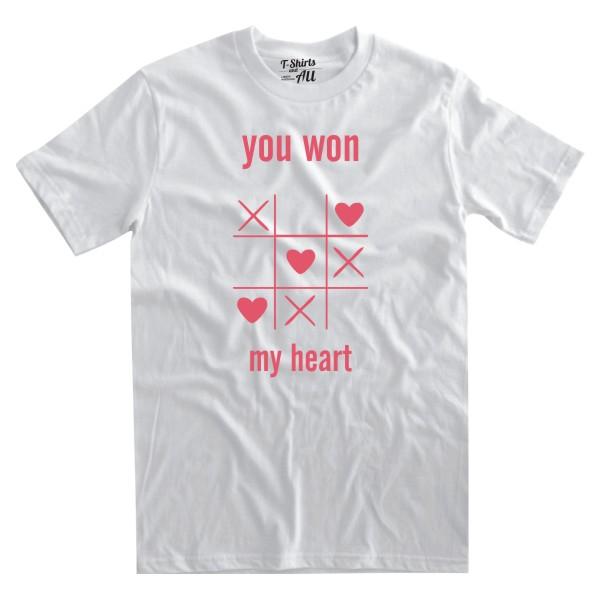 youwonmyheart white tshirt