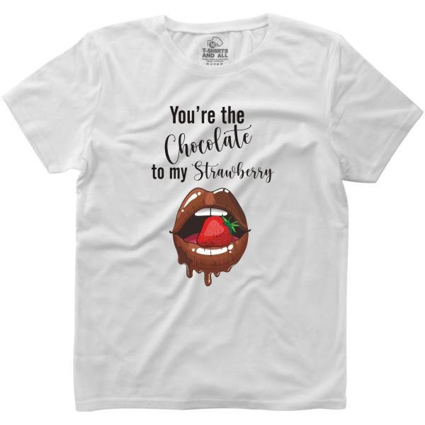 chocolate to my strawberry white woman tshirt