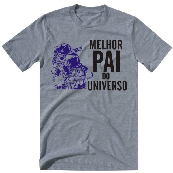 melhor pai do universo grey tshirt